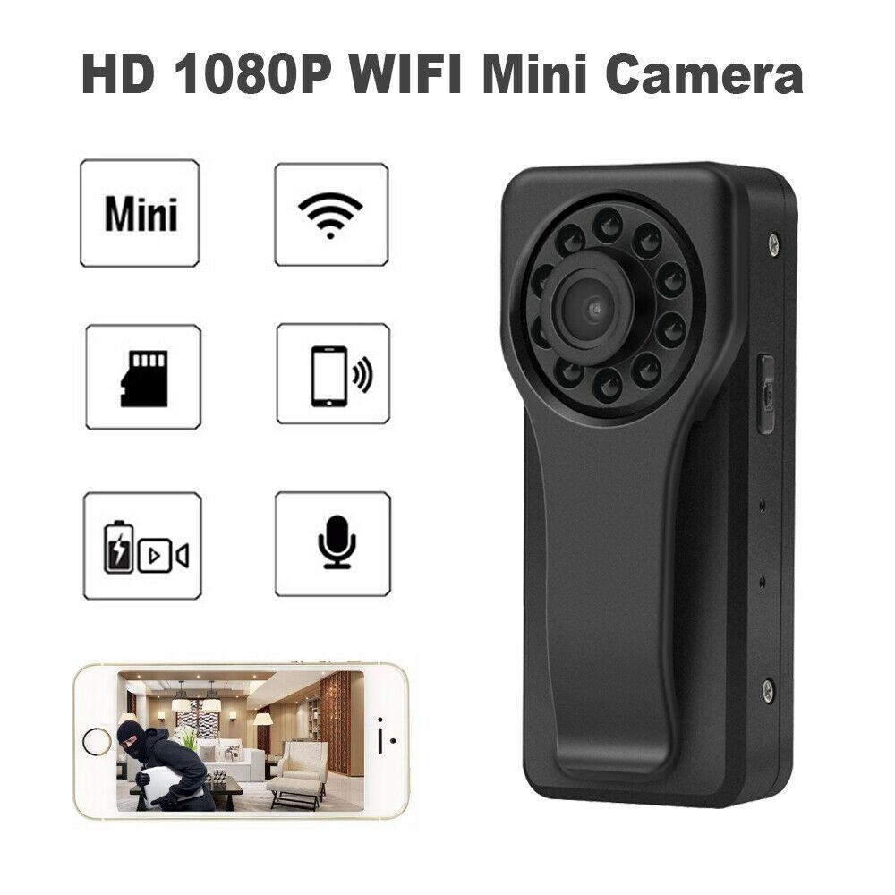 Caméra WIFI Mini A6 corps porté caméra 170 degrés enregistreur vidéo poche de sécurité caméra de Police HD1080P sans fil IP Camare Dashcam DVR