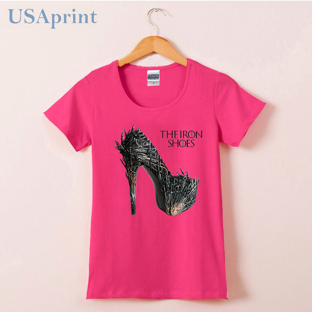 Games of Thrones The Iron Shoes High Quality O-neck Casual Women's T-shirt