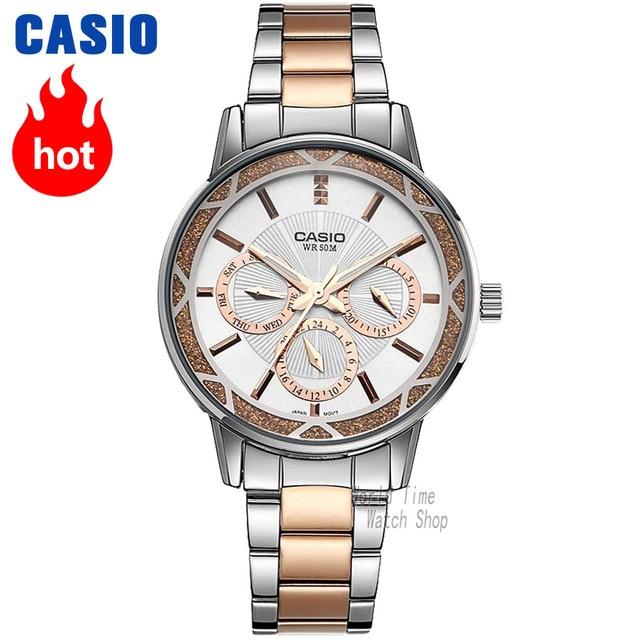 caf3ce29fba Casio relógio Analógico Quartz Esportes do Relógio de Negócios de Moda das  Mulheres Relógio À Prova