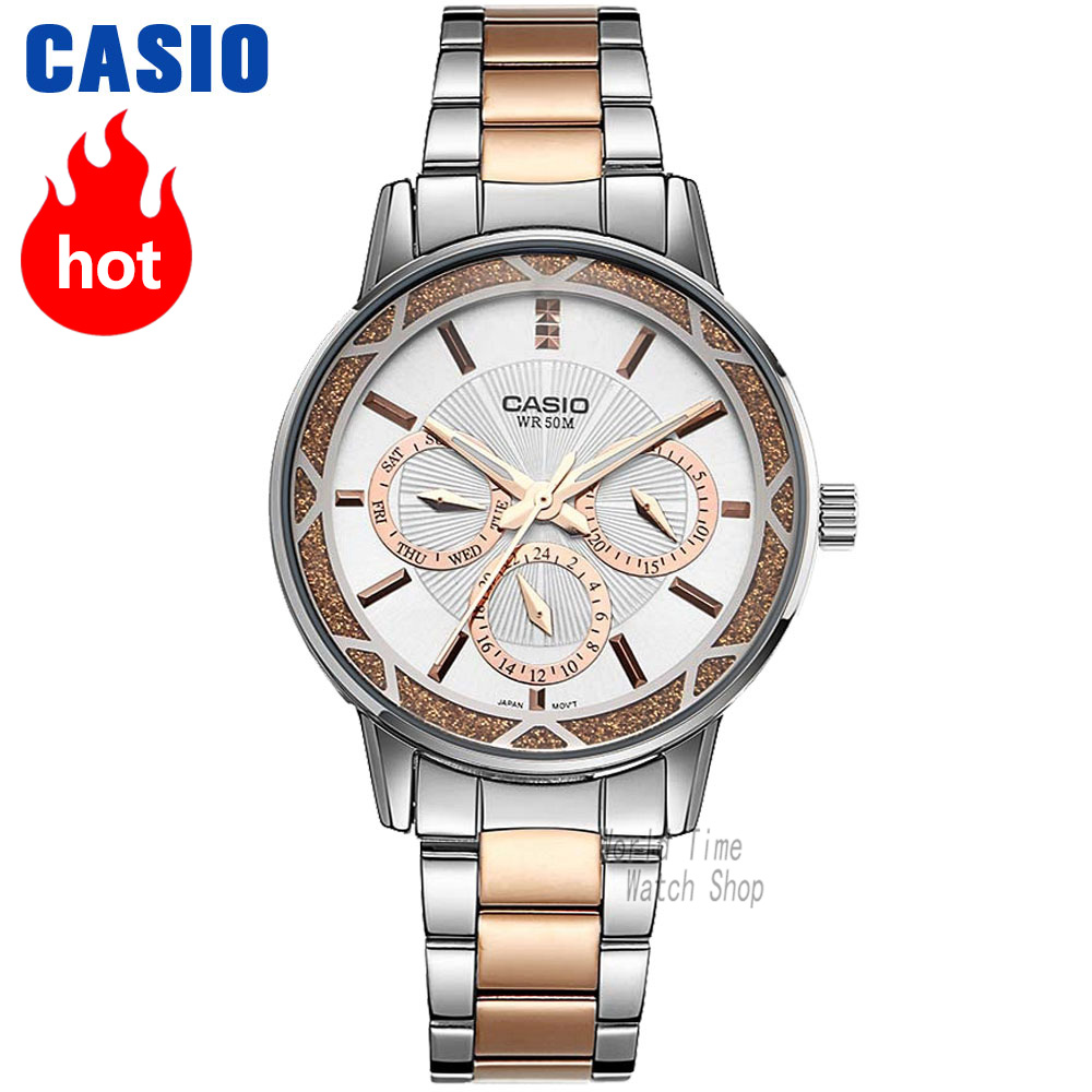лучшая цена Casio watch Analogue Women's Quartz Sports Watch Fashion Business Waterproof Watch LTP-2087