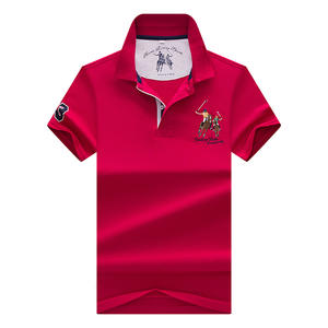 3D embroidery High Quality Tops&Tees Men's Polo shirts Business men brands Polo Shirts Turn-down collar mens polo shirt 9099