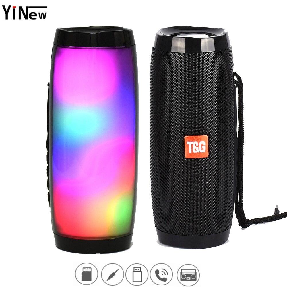 10W LED Stereo Bass Subwoofer Column Wireless Bluetooth Speaker Soda Portable Sound Boom Box Waterproof Pc Fm Raido USB Speaker