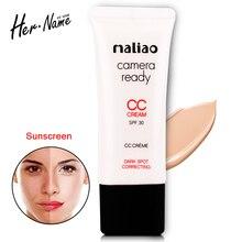 Nueva llegada bb & cc corrector crema base de maquillaje corrector en crema en polvo cosmético fundación crema para blanquear control de salud y belleza