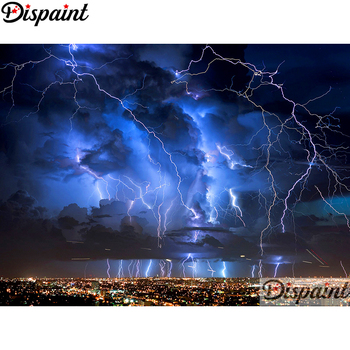 Dispaint Full Square/Round Drill 5D DIY Diamond Painting Lightning diagram Embroidery Cross Stitch 3D Home Decor A10878 dispaint full square round drill 5d diy diamond painting mandala scenery 3d embroidery cross stitch 5d home decor a10820