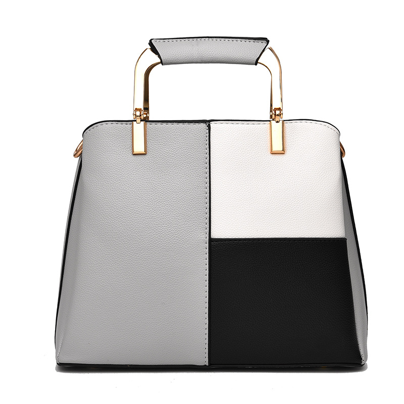 MONNET CAUTHY New Bags for Women Classic Leisure Fashion Office Lady Handbags Patchwork Color Dark Grey Black Crossbody Totes in Top Handle Bags from Luggage Bags