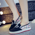 2017 spring and summer low to help a pedal lazy shoes heavy-bottomed shoes student flat shoes casual shoes canvas shoes