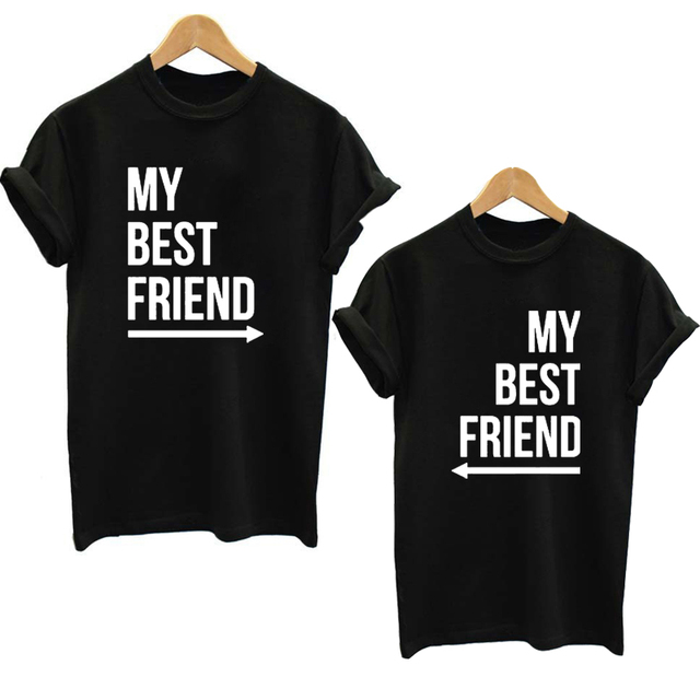 My Best Friend T-Shirt Summer Women BFF T Shirt Fashion Casual O Neck Short Sleeve Letter Print tshirts Funny Graphic Tee Top