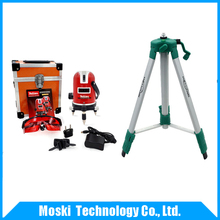 Mtian, 5 lines 6 points laser level (red laser)+ tripod