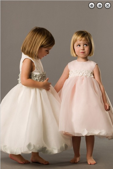 2015   Flowers   Actual Images Tank Organza Rushed   Girls  ' Wedding Party   Dress     Girl's   Pageant Gowns Children Long   Flower     Girl     Dresses