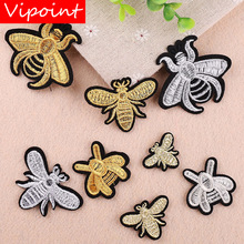 VIPOINT embroidery bee patches animal badges applique for clothing YX-249