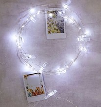 Battery operate 30 LED Copper Wire photo clip string lights Starry Fairy lights led lamps for Christmas party wedding decoration