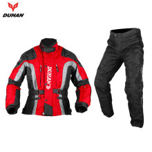DUHAN Men's Oxford Cloth Windproof Racing Clothing Sets Motorcycle Jacket Motocross Off-Road Riding Pants With Protector Gear