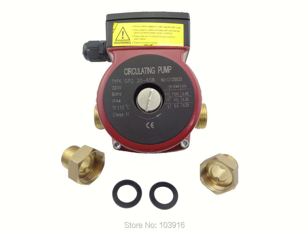 1 unit of 220v Brass circulation pump 3 speed, solar thermal pump for solar water heater or for hot water heating system 6162 63 1015 sa6d170e 6d170 engine water pump for komatsu