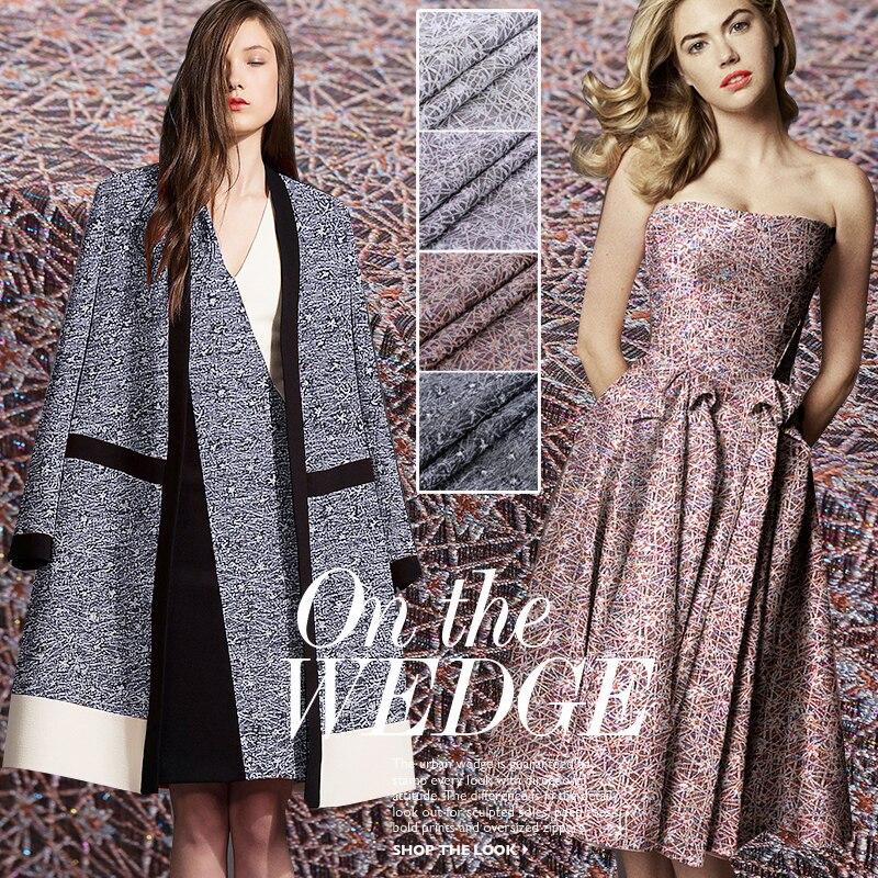 140 cm breed herfst en winter hoogwaardige driedimensionale jacquard stof geweven stijl kleding windjack mode stof-in Stof van Huis & Tuin op  Groep 1