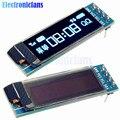 0.91 Дюймов 128x32 IIC I2C Синий OLED ЖК-Дисплей Модуль DIY SSD1306 Драйвер IC DC 3.3 В 5 В Для Arduino PIC Бесплатная Доставка