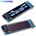 0.91 Pulgadas 128x32 Módulo IIC I2C PANTALLA LCD OLED Azul BRICOLAJE Ssd1306 IC DC 3.3 V 5 V Para Arduino PIC Envío Gratis
