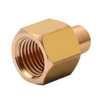 """1pc New Brass BSP-NPT Adapter 1/8"""" Male BSPT to 1/4"""" Female NPT Brass Pipe Fitting Hexagon Plumbing Adapter Pipe Fitting Mayitr"""