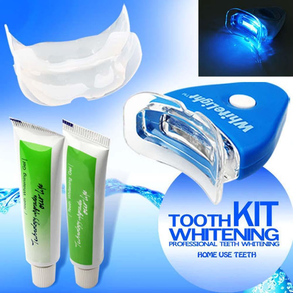 1 Set NEW White LED Light Teeth Whitening Tooth Gel Whitener Health Oral Care Toothpaste Kit for Personal Dental Treatment