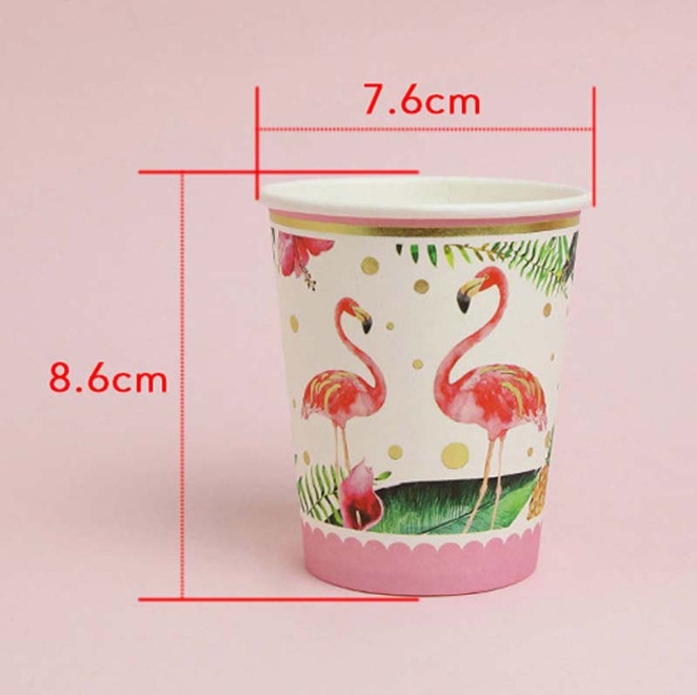 Disposable Flamingo Plates Wedding Tableware Paper Cup Birthday Party Decoration Kids Flamingo Pineapple Luau Party Supplies DIY in Disposable Party Tableware from Home Garden
