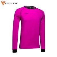 Vicleo Brand Professional Soccer Goalkeeper Jerseys Sponge Protector T shirt Doorkeepers Survetement Football Shirts 16Z07000