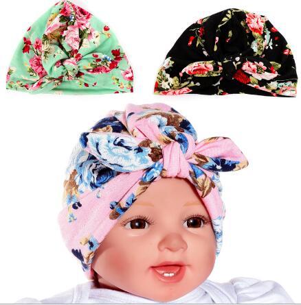 a4524cffa3a Fashion Indian Girls Head Wrap Cap rabbit ear turban Bandana Hijab india  caps Cloche Hair Cover Flower Hat