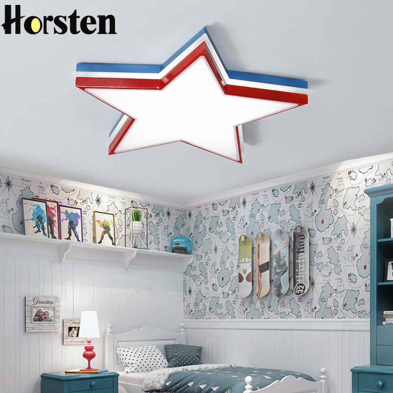 Remote Control Modern LED Ceiling Light Star Shape ...