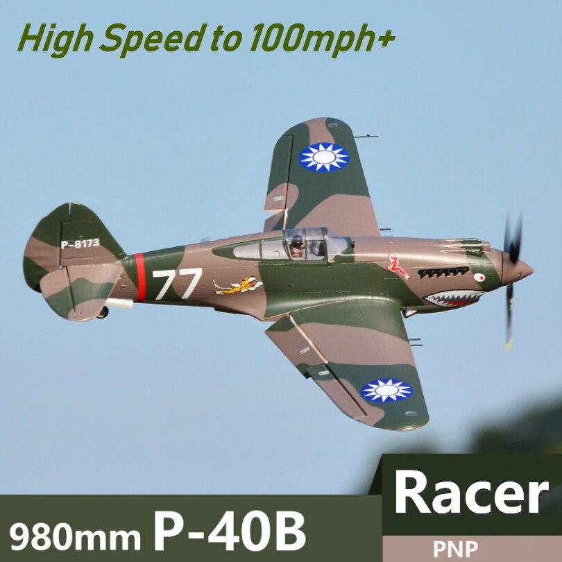 FMS RC avión 980mm 0,98 m P40 P-40 Flying Tiger 6CH PNP carreras de alta velocidad Warbird Control remoto modelo de avión Flysky FS-SM100 RC simulador de vuelo USB con Cable FMS controlador de helicóptero 2,4G
