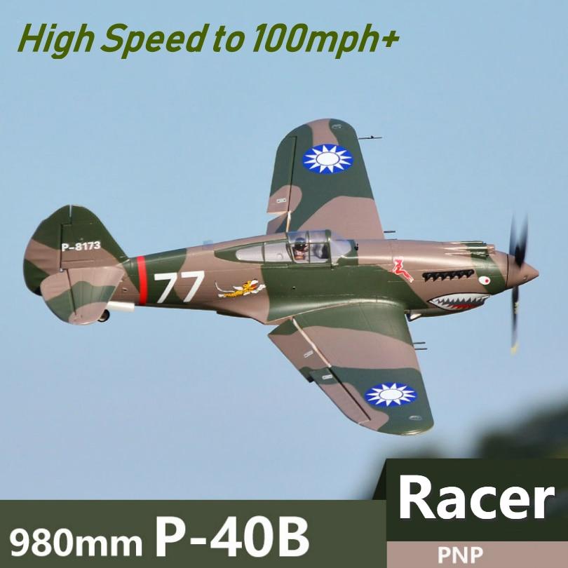 FMS RC avion 980mm 0.98 m P40 P-40 tigre volant 6CH PNP haute vitesse course Warbird télécommande échelle modèle avion