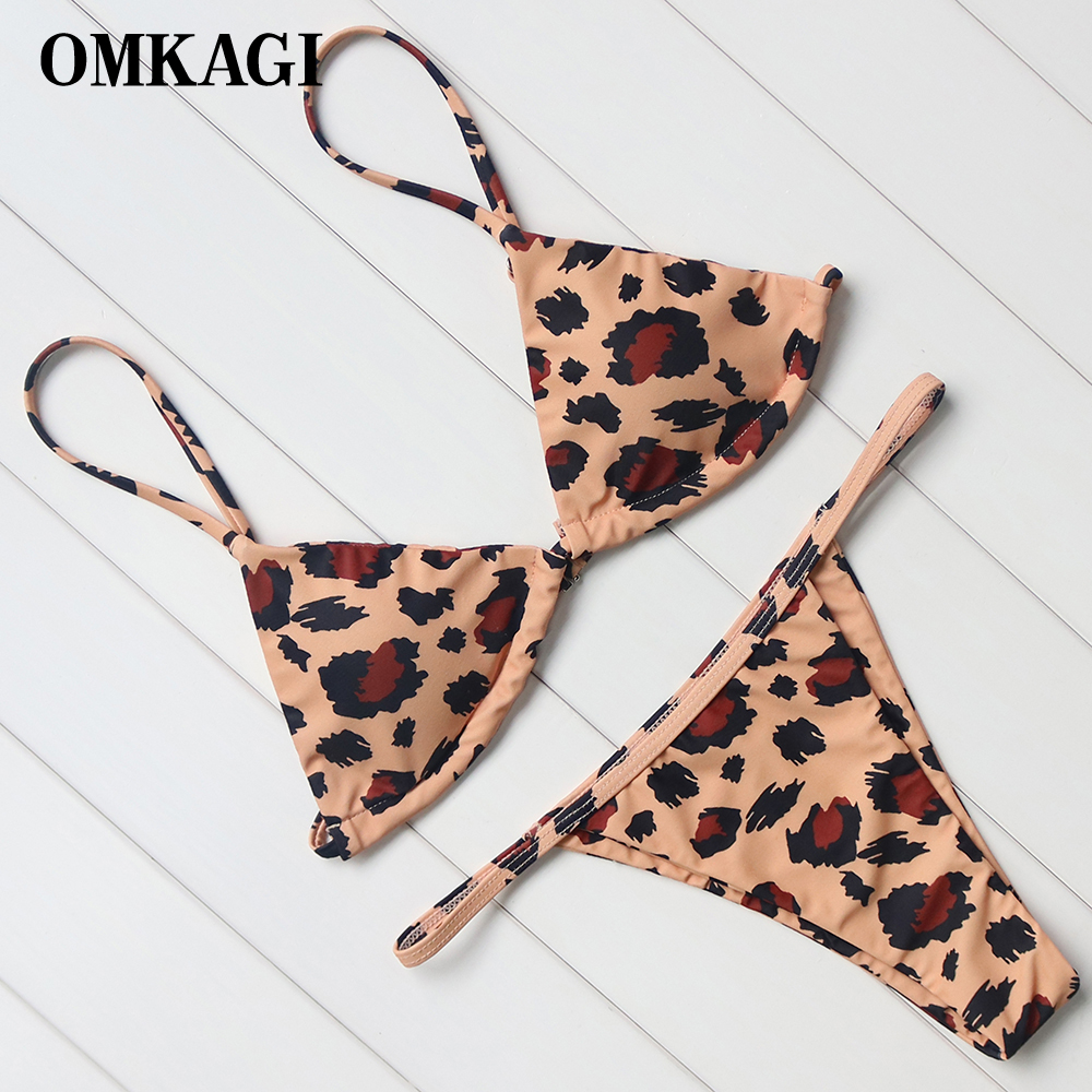 OMKAGI Brand Swimsuit Swimwear Women Biquini Sexy Push Up Micro Bikini Set Swimming Bathing Suit Beachwear Brazilian Bikini 2018 2