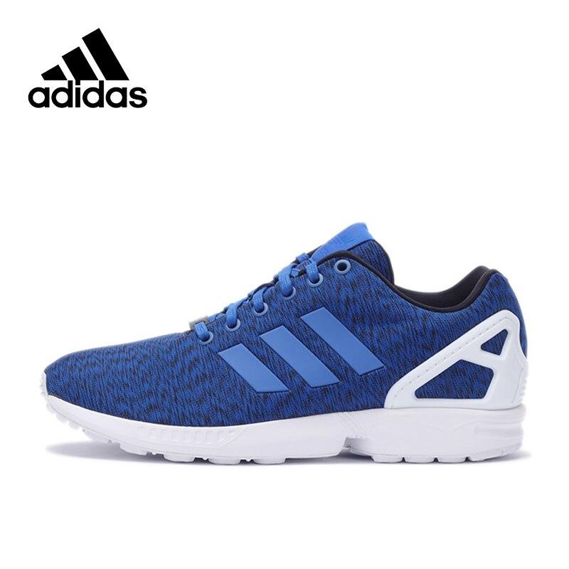 Official New Adidas Originals Sneakers ZX FLUX Classics Blue White Men's Skateboarding Shoes Sneakers Designer Sport Men Shoes