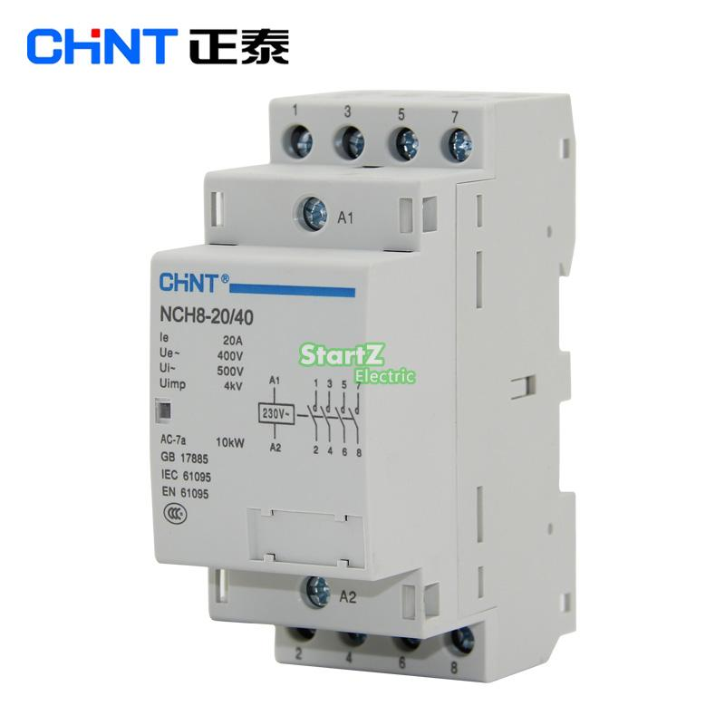 цена на CHNT NCH8-20/22 20A 400V 2NO 2NC Din rail Household AC Contactor