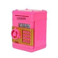 Cute Simulation ATM Mini Piggy Bank Creative Safe Password Piggy Bank Kids Birthday Gift Toys Hot