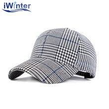 Iwinter nueva moda Plaid béisbol sombrero para hombres mujeres SnapBack  gorra de béisbol unisex sombrero de d233af0d3c5