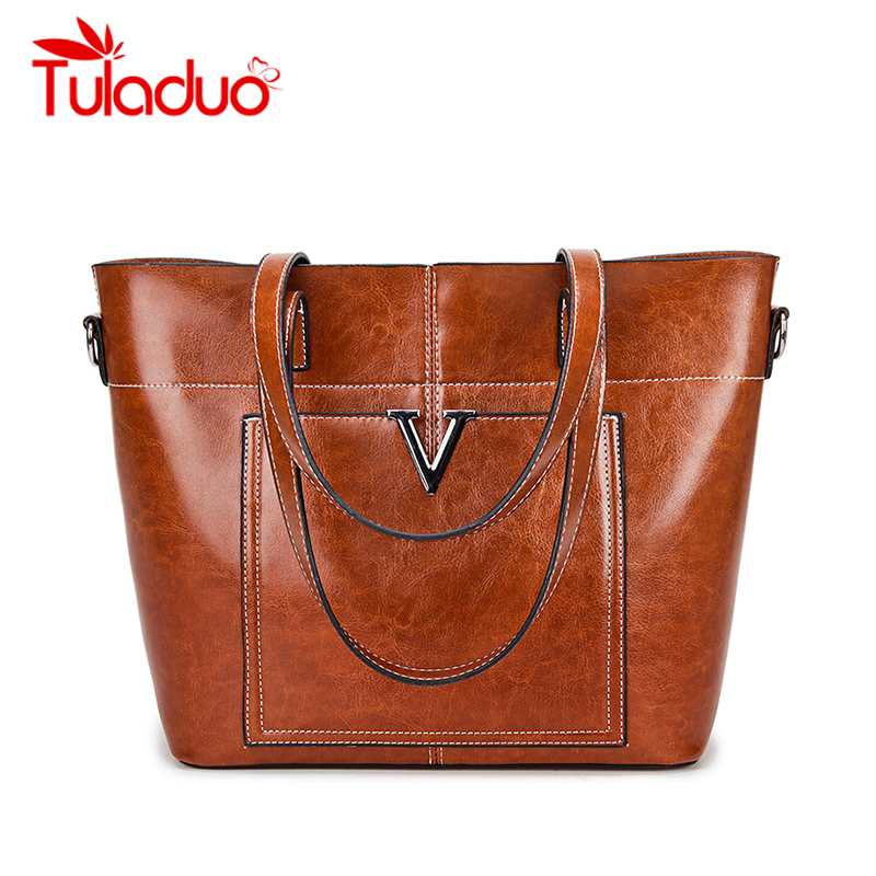High Quality Oil Leather Handbags Women Bag Female Casual Tote Bags Trunk Spanish Brand Shoulder Bags Design Ladies Large Bolsos [whorse] brand high quality women genuine leather shoulder bags cowhide ladies casual tote bag large capacity wa5054 7
