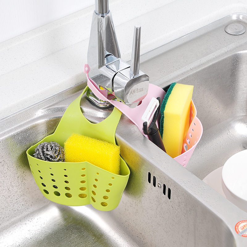 T Can Adjust The Snap Buckets To Store  Hanging Basket  Water Tank  Bag  Faucet  Sponge And The Water Shelf