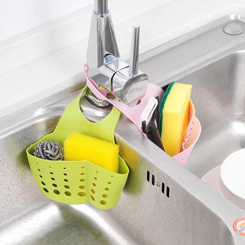 T pode ajustar a pressão de baldes para loja pendurado prateleira cesta saco de tanque de água torneira esponja e a água