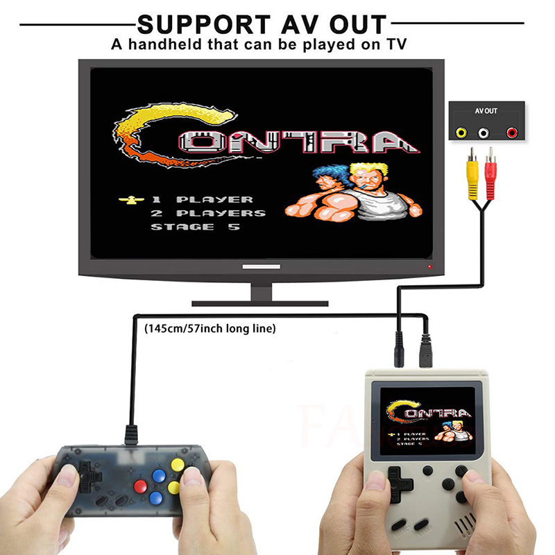 FANGTUOSI Video Game Console 8 Bit Retro Mini Pocket Handheld Game Player Built-in 168 Classic Games for Child Nostalgic Player 4