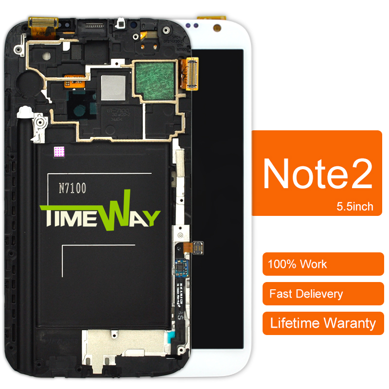 ФОТО 2pcs 2015 Rushed Special Offer Original For Samsung Note 2 N7100 Lcd Screen With Touch Digitizer Assembly