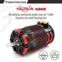 SURPASSHOBBY Rocket 4268 V2 1850KV Sensored Brushless Motor for 1/8 RC On-road Off-road Car hobbywing xerun 4274 4268 sd g2 sensored brushless 4 pole inrunner motor for rc 1 8 1 10 buggy touring cars