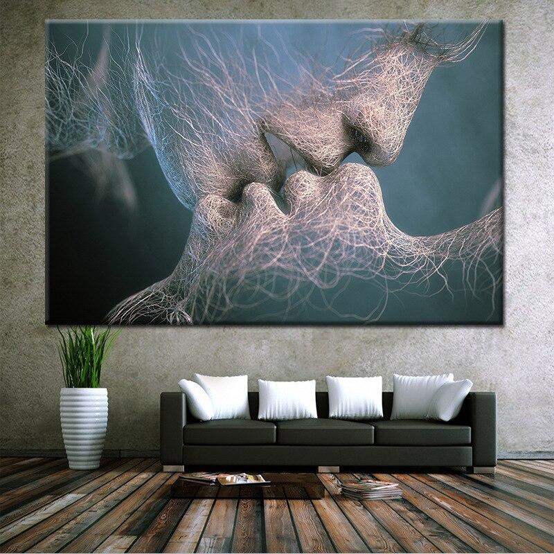 Глубокий поцелуй стены Стикеры дома декоративная живопись личность Творческий Съемный стены Стикеры s наклейки
