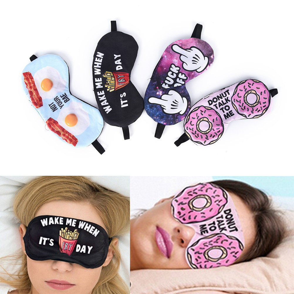 1pc 3D Printing Sleeping Eye Mask Lovely Eye Care Shade Blindfold Sleep Mask Eyes Cover Sleeping Eye Care Tool