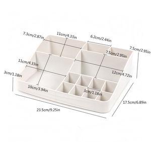 Image 4 - Многослойный пластиковый косметический ящик, органайзер для макияжа, контейнер для хранения, шкатулка для ногтей, настольный чехол для хранения