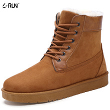 Men's Casual High Top 2016 New Arrival Fashion Suede Winter Snow Shoes Thick Plush Warm Ankle  Men Flat Winter Shoes