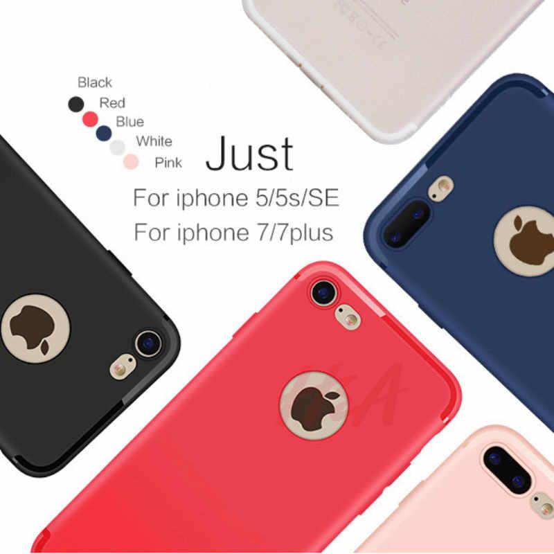 H & A Ultra Slim funda de silicona para iphone 7 6 6s 8 X Coque negro Shell suave TPU caja mate del teléfono para iphone 7 8 plus