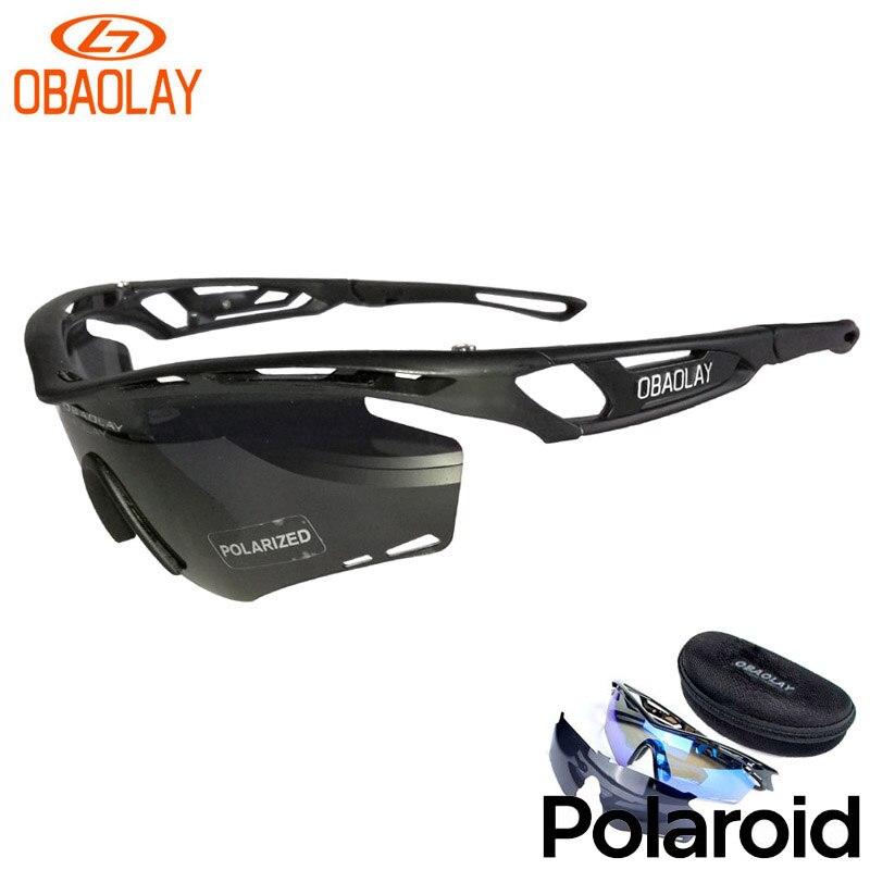 ФОТО OBAOLAY Brand Polarized Men Women Cycling Sun Glasses Outdoor Sports Bicycle Glasses Bike Sunglasses TR90 Goggles Sports Eyewear