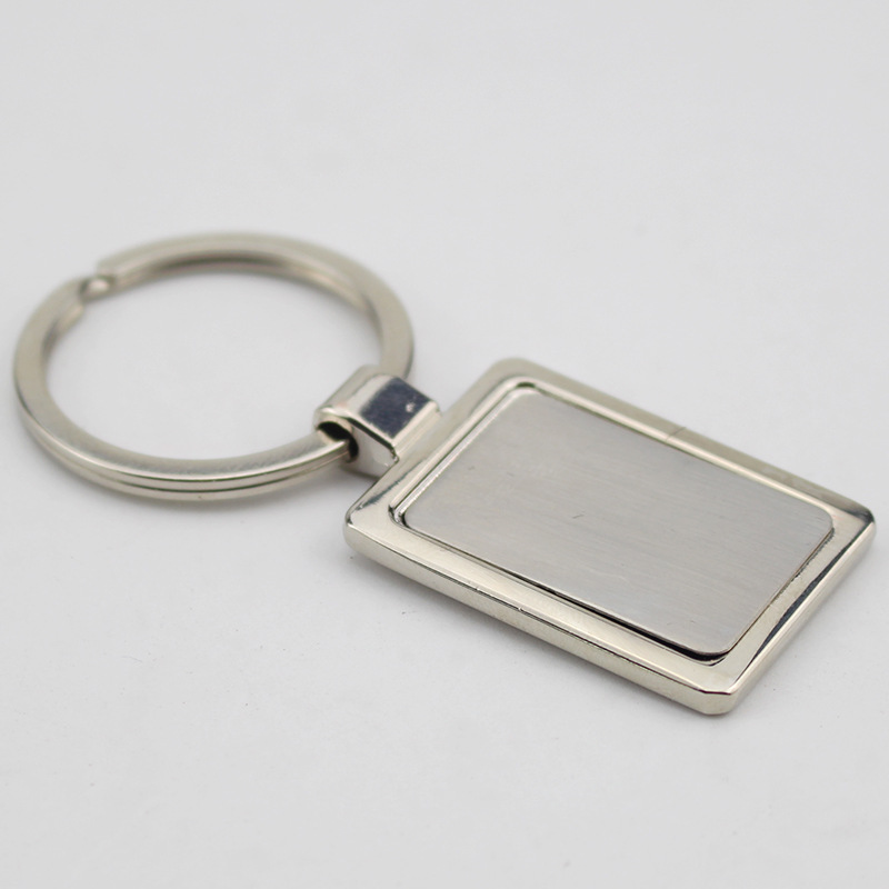 FREE SHIPPING BY DHL 100pcs lot Zinc Alloy Metal Blank Keyrings Key Chains Rectangle Key Holders