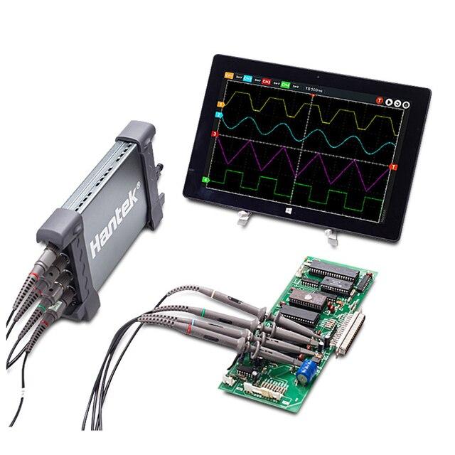 Hantek הרשמי 6204BC אוסצילוסקופ הדיגיטלי 200 MHZ 1GSa/s 4CH Windows10/8/7 עם ממשק USB בדיקה כף יד