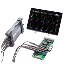 Hantek osciloscopios digitales oficiales 6204BC, 200MHZ, 1GSa/s, 4 canales, Windows S10/8/7, con sonda de interfaz USB de mano