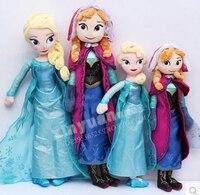 디즈니 장난감 패션 새로운 브랜드 작은 사이즈 크게 냉동 공주 엘사 안나 40 센치메터/50 센치메터 소녀 선물 Brinquedos Ty034