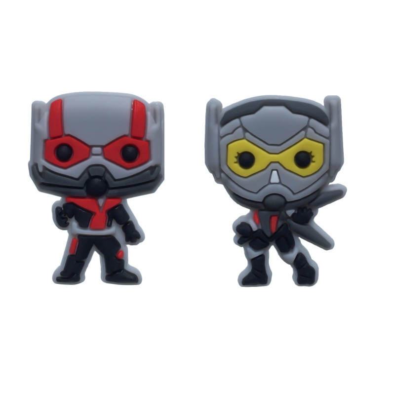 fed375c1b New 1pcs Cool Ant Man Action Figure PVC Shoe Charms Buckles Accessories Fit Bracelets  Croc JIBZ Buttons Kid Party Gifts